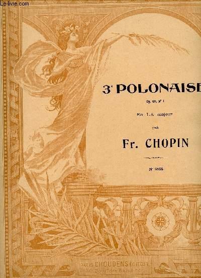 3E POLONAISE - OP 40 N°1 - EN LA MAJEUR - N°5955