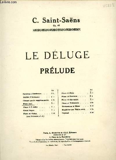 LE DELUGE - PRELUDE - PIANO SEUL