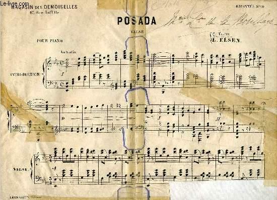 POSADA - VALSE - POUR PIANO