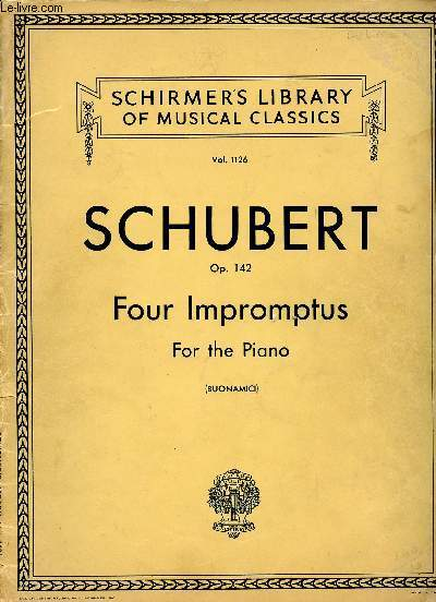 FOUR IMPROMPTUS FOR THE PIANO - OP142 VOL1126
