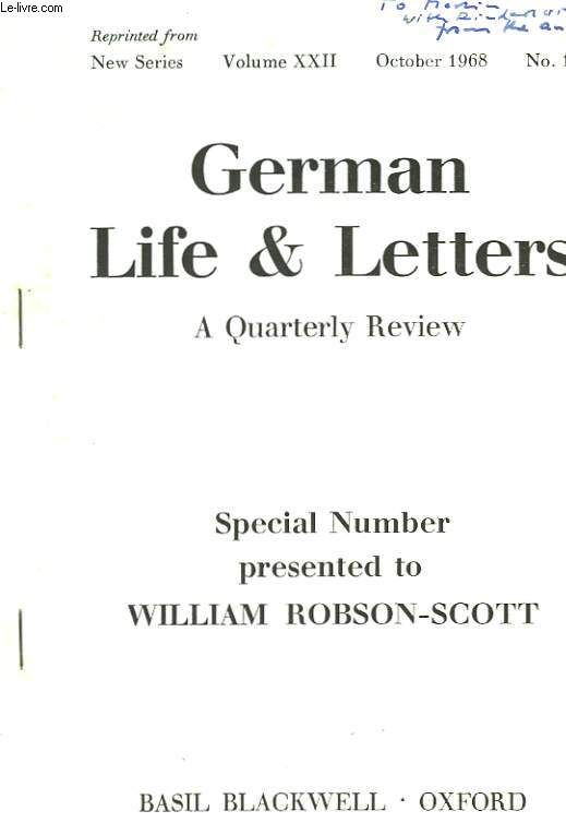 GERMAN LIFE & LETTERS