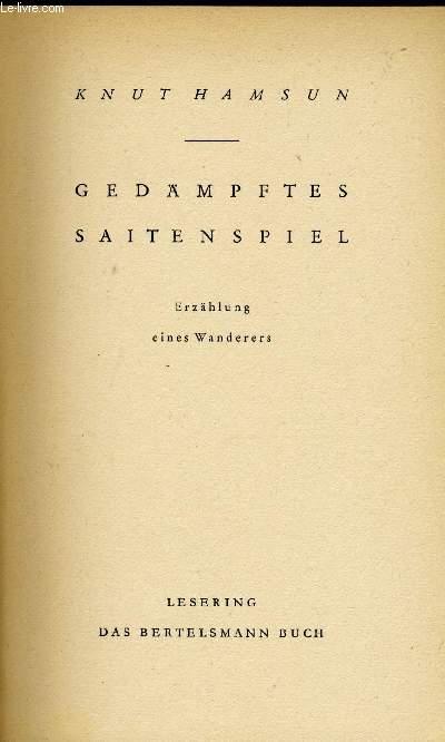 GEDÄMPFTES SAITENSPIEL