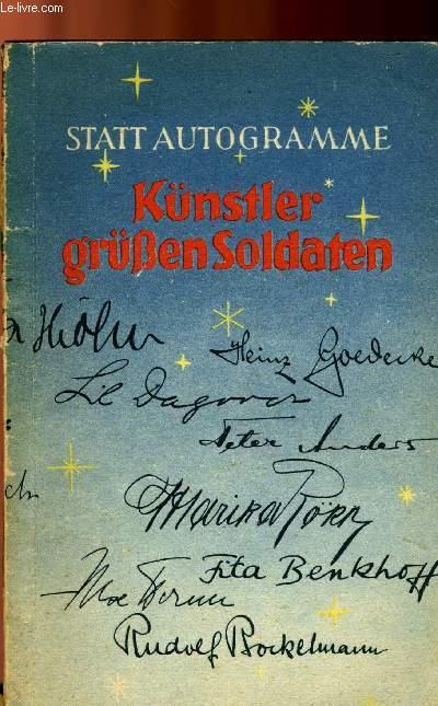 STAAT AUTOGRAMME - KÜNSTLER GRÜßEN SOLDATEN