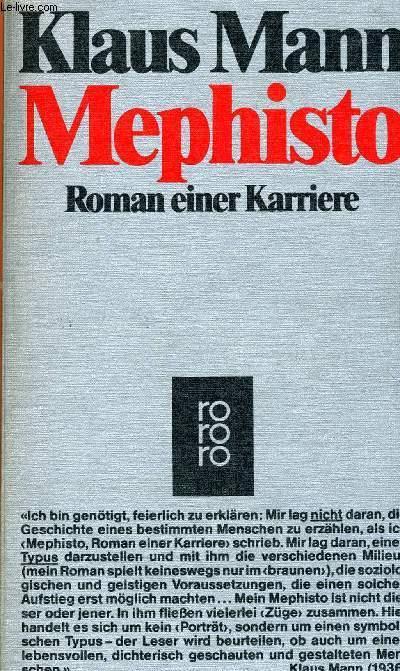 MEPHISTO, ROMAN EINER KARRIERE