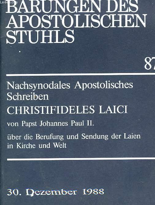 VERLAUTBARUGEN DES APOSTOLISCHEN STUHLS