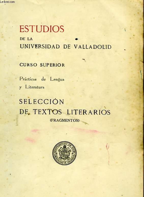 ESTUDIOS DE LA UNIVERSIDAD DE VALLADOLID - CURSO SUPERIOR