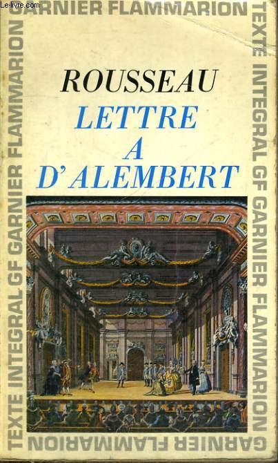 LETTRE A D'ALEMBERT