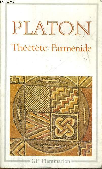 THEETETE PARMENIDE