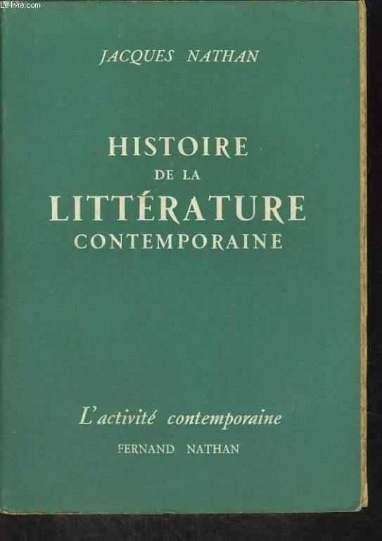 HISTOIR EDE LA LITTERATURE CONTEMPORAINE