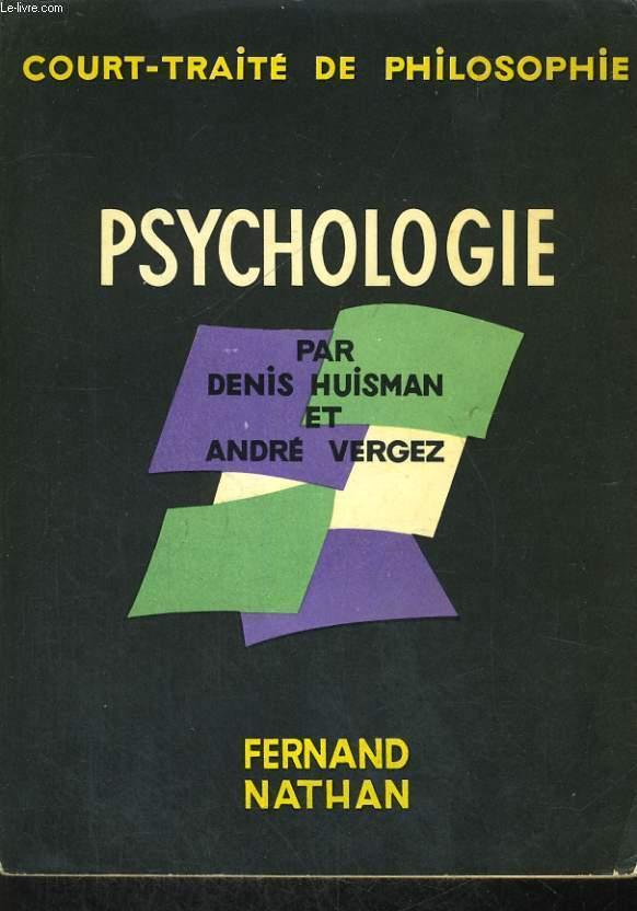 COURT-TRAITE DE PHILOSOPHIE. PSYCHOLOGIE.