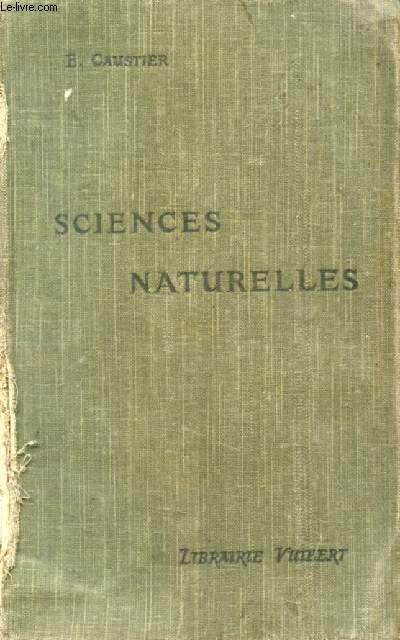 SCIENCES NATURELLES A L'USAGE DES ELEVES DES CLASSES DE PHILOSOPHIE ET DE MATHEMATIQUES