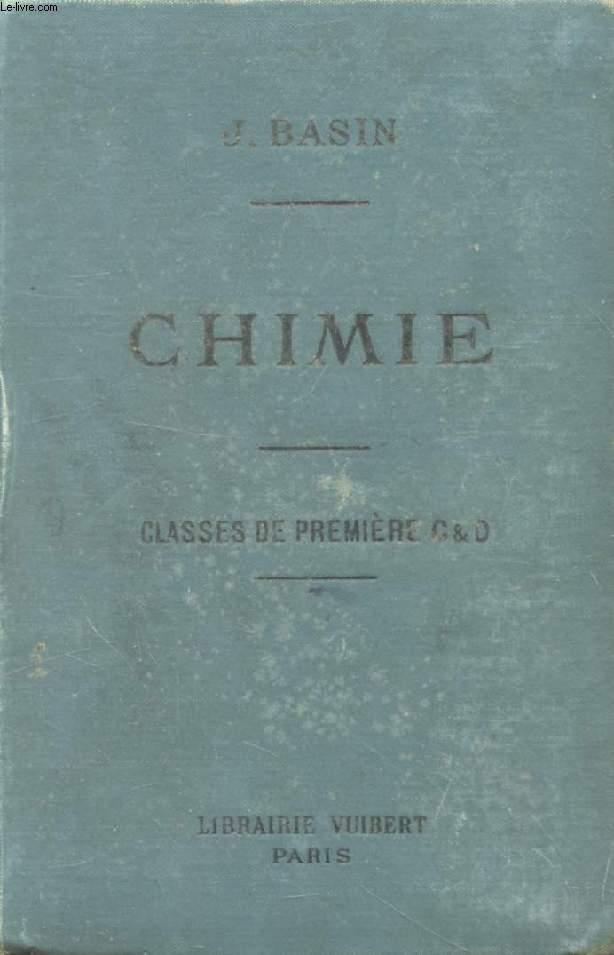 CHIMIE (METAUX, CHIMIE ORGANIQUE) A L'USAGE DES ELEVES DES CLASSES DE 1re C ET D