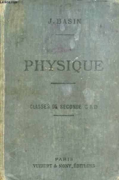 PHYSIQUE (PESANTEUR, CHALEUR) A L'USAGE DES ELEVES DES CLASSES DE 2de C ET D