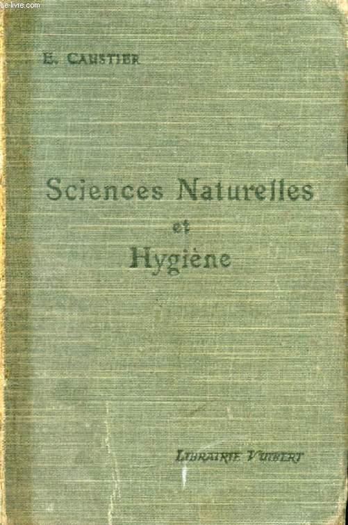 SCIENCES NATURELLES (ANATOMIE, PHYSIOLOGIE, GEOLOGIE) ET HYGIENE, CLASSES DE PHILOSOPHIE ET DE MATHEMATIQUES