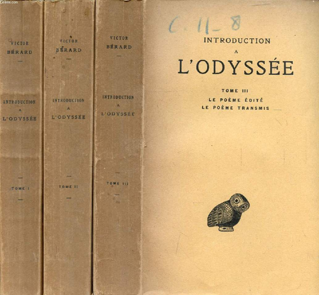 INTRODUCTION A L'ODYSSEE, 3 TOMES