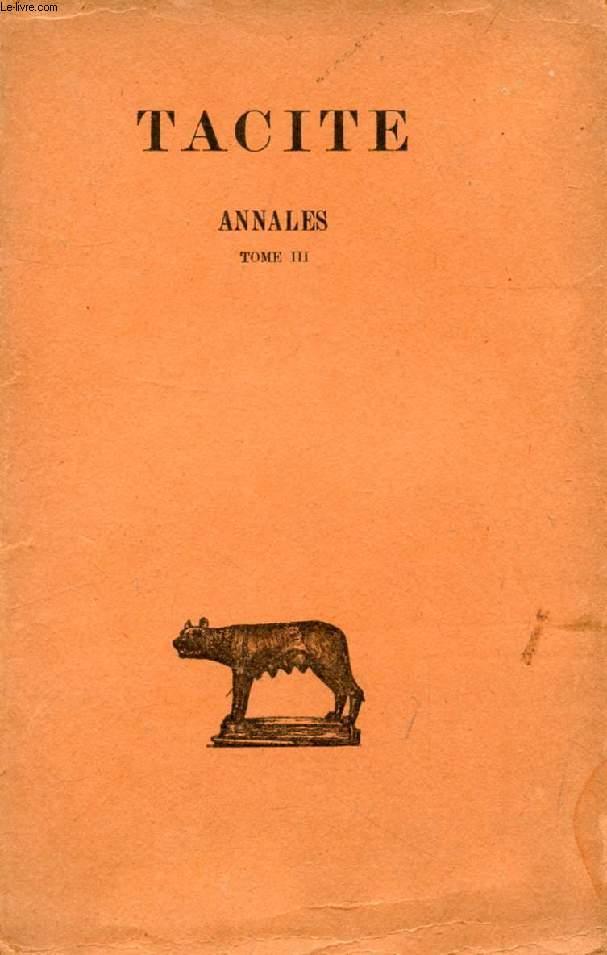 ANNALES, TOME III (LIVRES XIII-XVI)