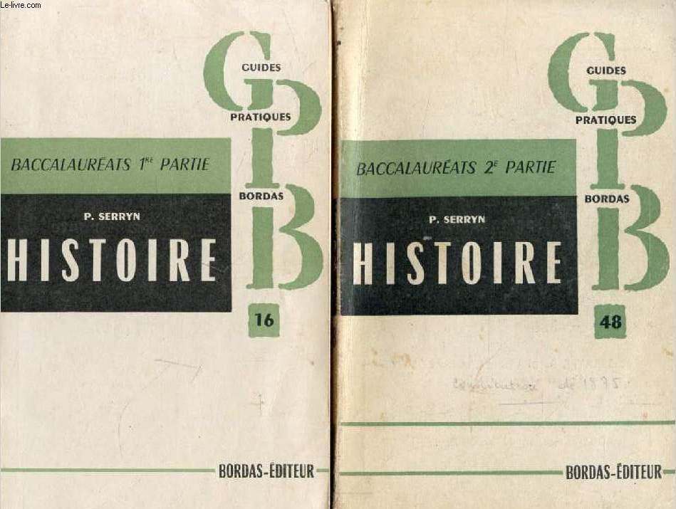 L'HISTOIRE AU BACCALAUREAT, 2 PARTIES, 1848-1914 / 1851-1948