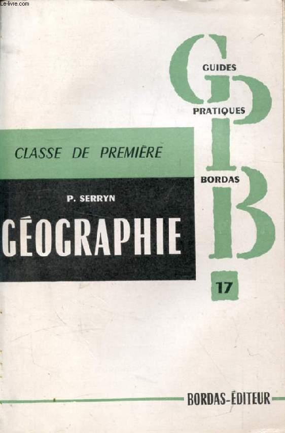 LA GEOGRAPHIE A L'EXAMEN DE FIN DE CLASSE DE 1re, LA FRANCE ET LES PAYS ASSOCIES