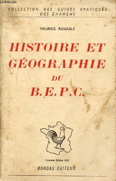 HISTOIRE ET GEOGRAPHIE DU BEPC