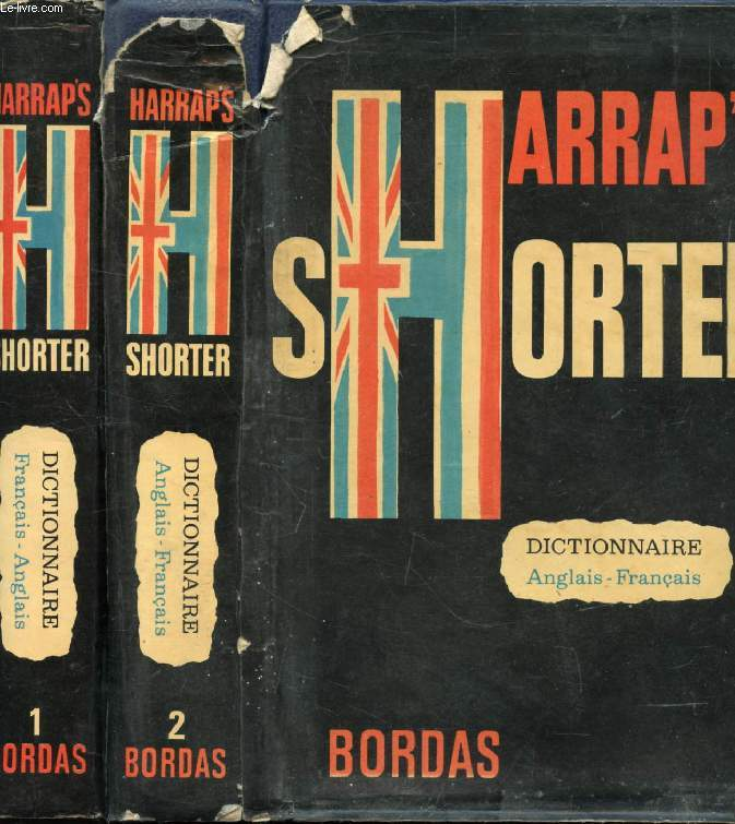 HARRAP'S NEW SHORTER FRENCH AND ENGLISH DICTIONARY, FRENCH-ENGLISH, ENGLISH-FRENCH, 2 VOLUMES