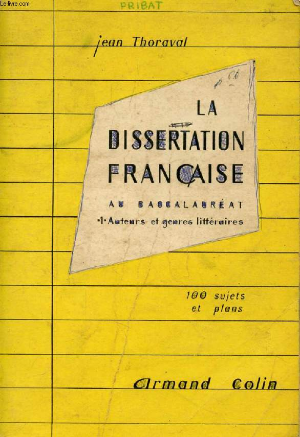 la dissertation francaise Dissertation la revolution francaise, creative writing jobs australia, creative writing unimelb @asapdeezy it will dumb nut there's 2 essay questions and 4.