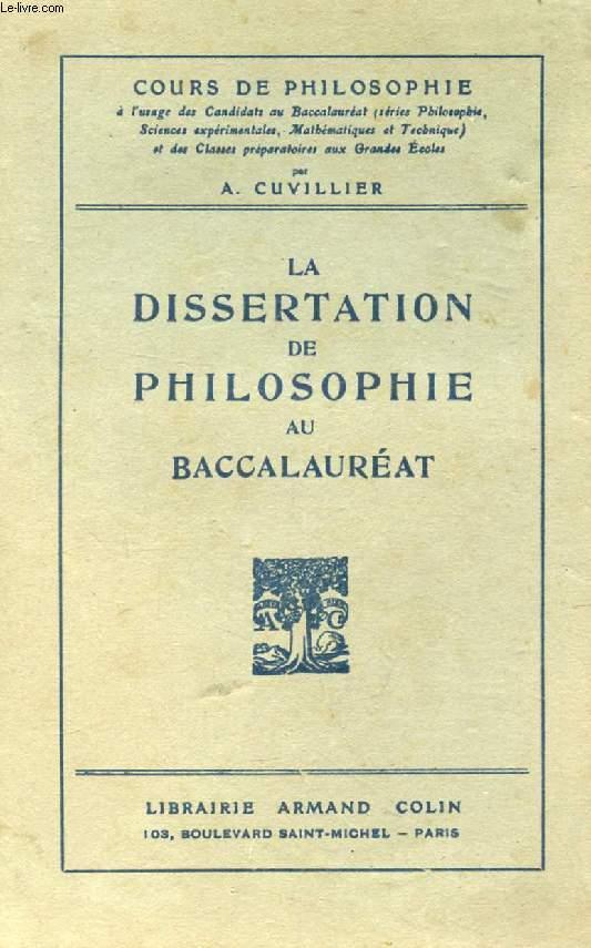 LA DISSERTATION PHILOSOPHIQUE AU BACCALAUREAT