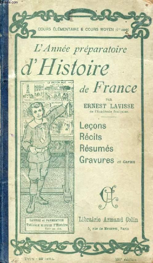 L'ANNEE PREPARATOIRE D'HISTOIRE DE FRANCE