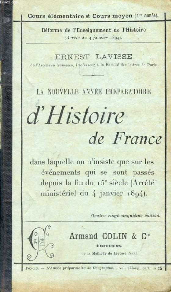 LA NOUVELLE ANNEE PREPARATOIRE D'HISTOIRE DE FRANCE