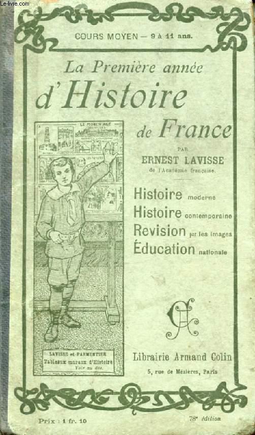LA PREMIERE ANNEE D'HISTOIRE DE FRANCE