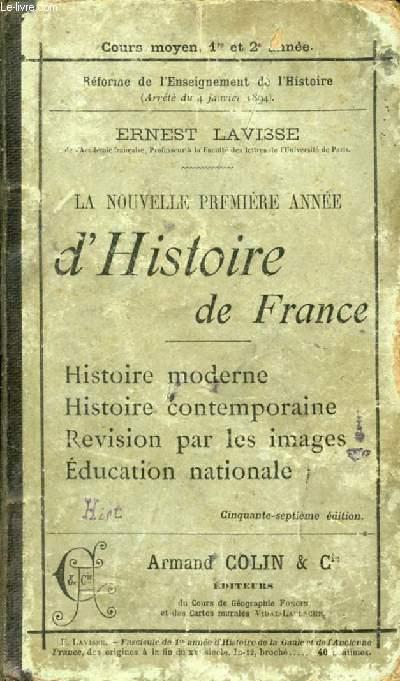 LA NOUVELLE PREMIERE ANNEE D'HISTOIRE DE FRANCE
