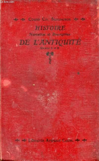 HISTOIRE NARRATIVE ET DESCRIPTIVE DE L'ANTIQUITE, 6e A, B