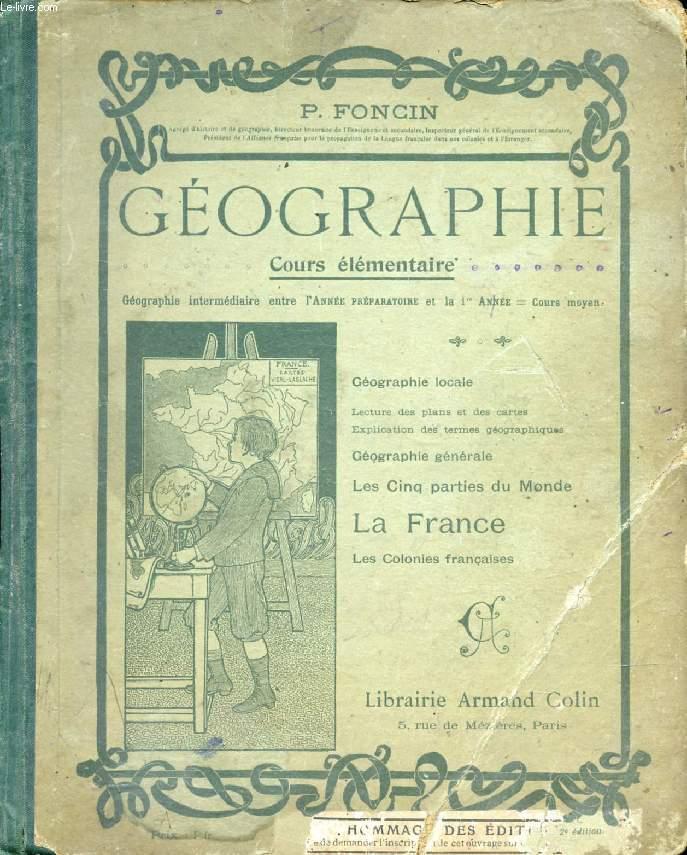 GEOGRAPHIE, A L'USAGE DU COURS ELEMENTAIRE