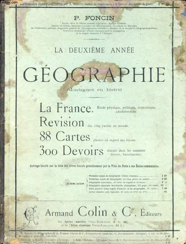 LA DEUXIEME ANNEE DE GEOGRAPHIE, LA FRANCE