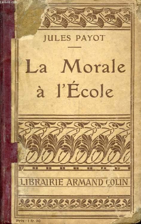 LA MORALE A L'ECOLE
