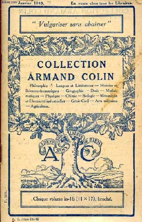 COLLECTION ARMAND COLIN (CATALOGUE)