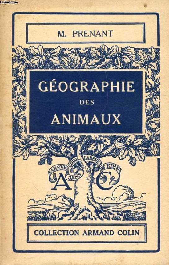 GEOGRAPHIE DES ANIMAUX