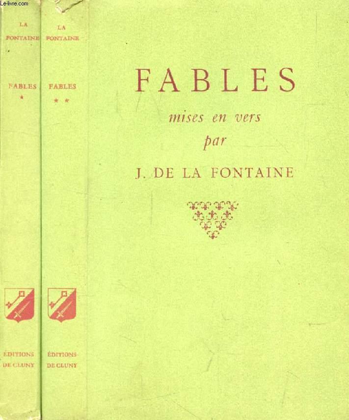 FABLES MISES EN VERS PAR JEAN DE LA FONTAINE, 2 TOMES