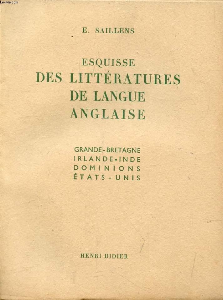 ESQUISSE DES LITTERATURES DE LANGUE ANGLAISE