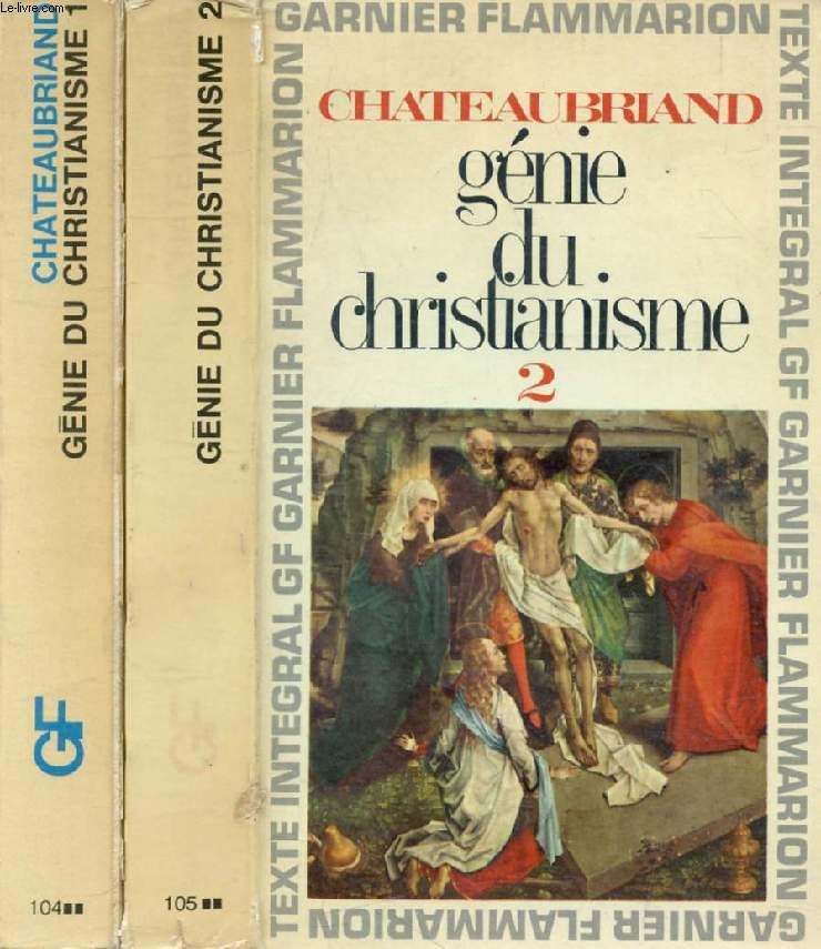 GENIE DU CHRISTIANISME, 2 TOMES