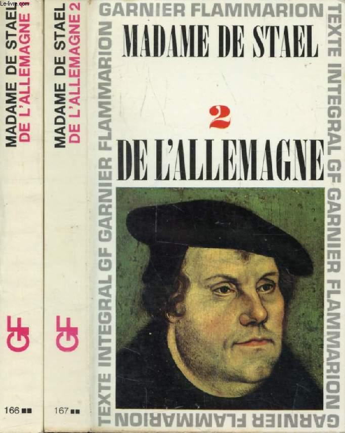 DE L'ALLEMAGNE, 2 TOMES