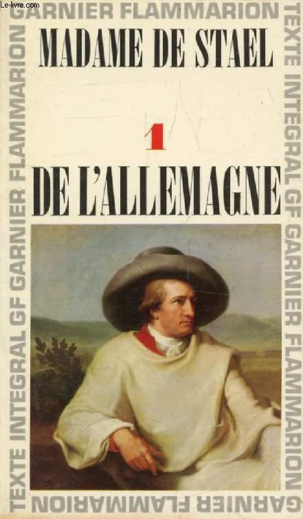 DE L'ALLEMAGNE, TOME I