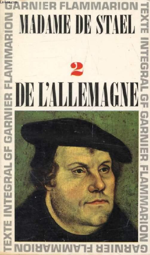DE L'ALLEMAGNE, TOME II