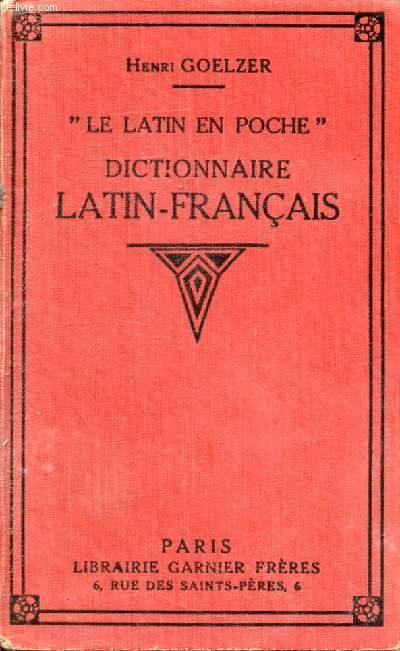 DICTIONNAIRE LATIN-FRANCAIS (LE LATIN EN POCHE)