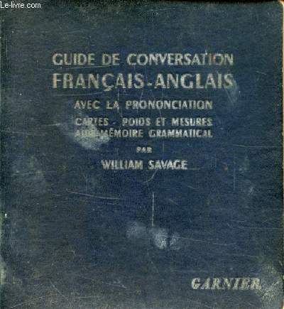 GUIDE DE CONVERSATION FRANCAIS-ANGLAIS