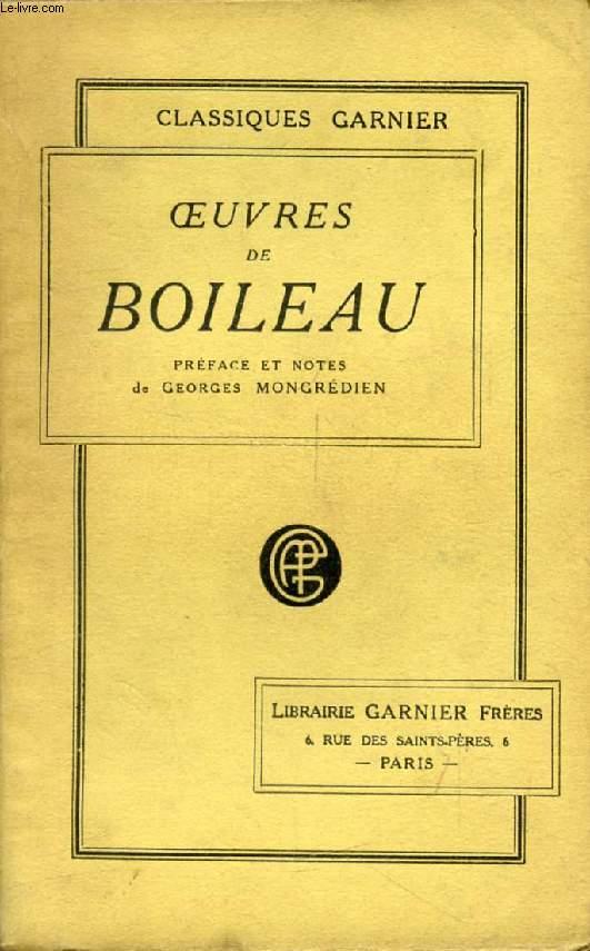OEUVRES DE BOILEAU