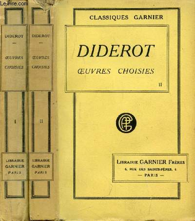 OEUVRES CHOISIES DE DIDEROT, 2 TOMES