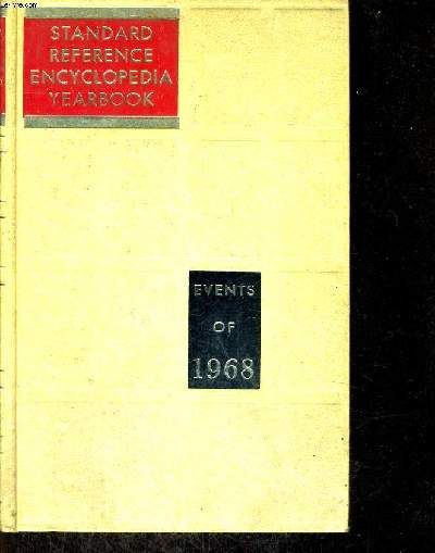 STANDARD REFERENCE ENCYCLOPEDIA YEARBOOK 1968