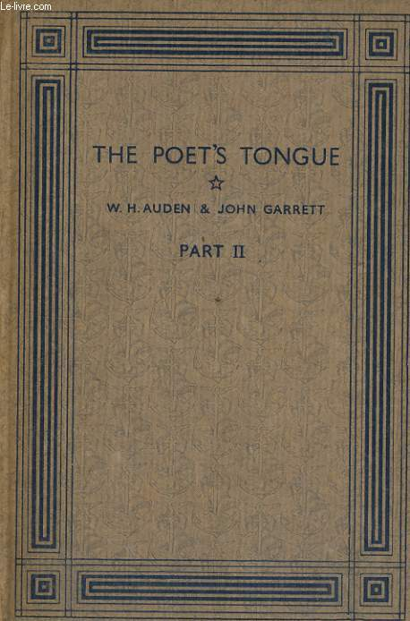 THE POET'S TONGUE, SECOND PART