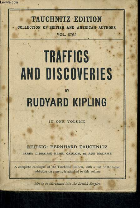 TRAFFICS AND DISCOVERIES. COPYRIGHT EDITION.