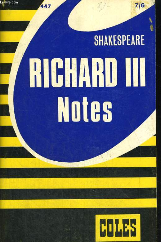 RICHARD III. NOTES.